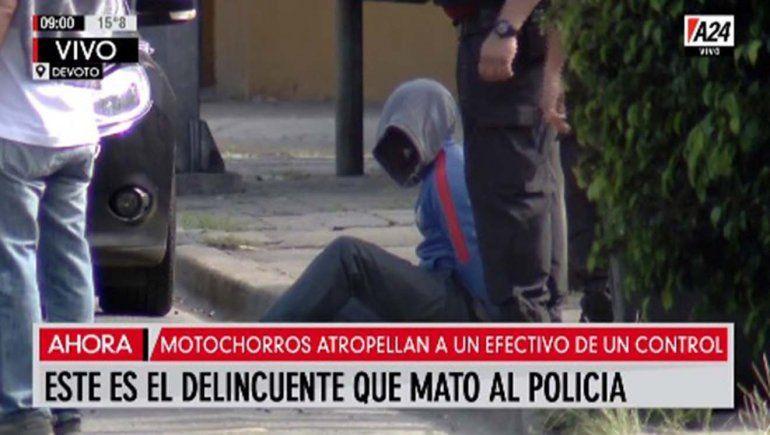 Motochorros atropellaron y mataron a un policía: un delincuente murió