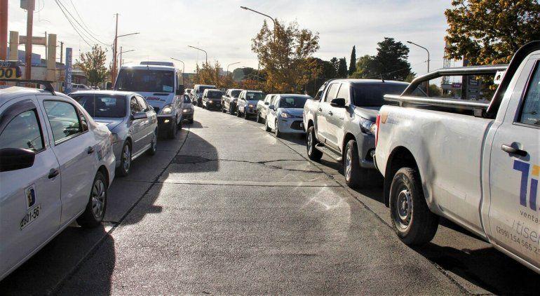 Las rutas desde Cipolletti a Neuquén son un caos de tránsito