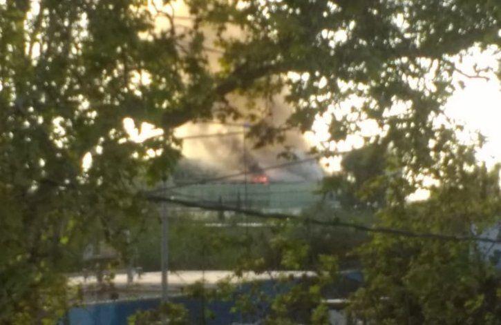 La fábrica que explotó este domingo.