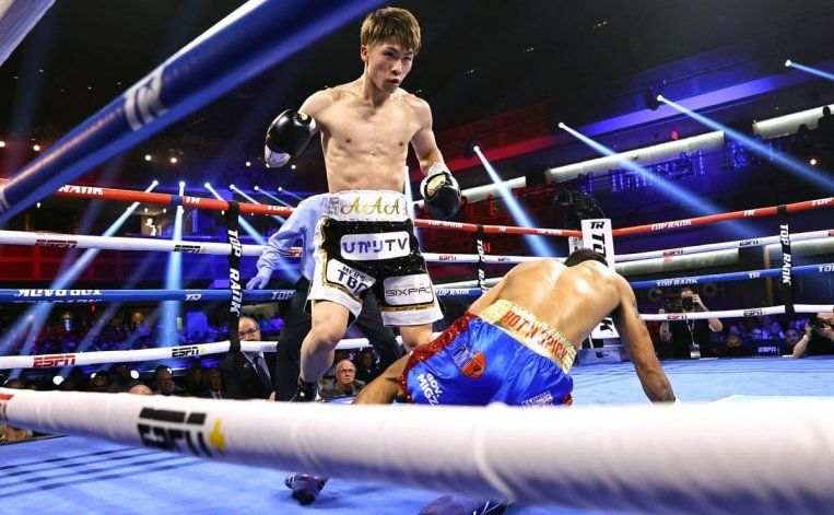 El Monstruo Japonés lo noqueó en el tercer round con tres ganchos al hígado
