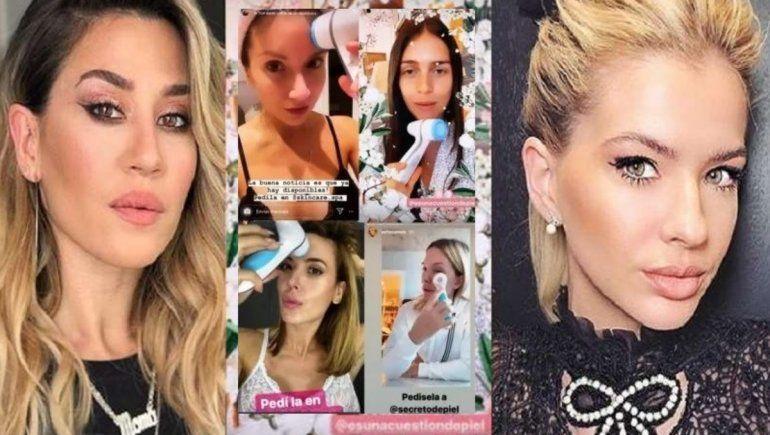 El escándalo de la maquinita facial enfrenta a la China Suarez y Jime Barón con otras famosas