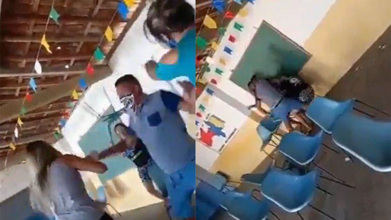 Llevó a su amante a vacunarse y se encontró con su esposa y su cuñada