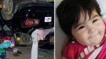 milagro en chubut: beba se salvo de un accidente y la encontraron sonriendo