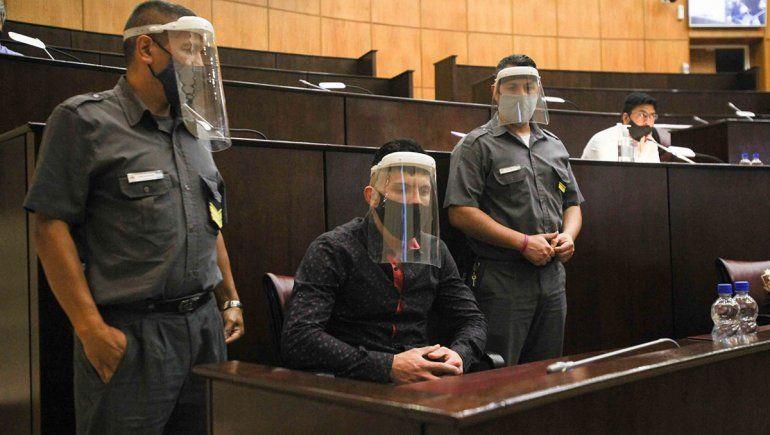 Alfredo Escobar en el comienzo del juicio por el femicidio de Cielo López.