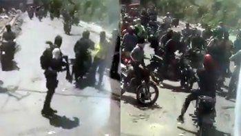 Capturas de la violencia que vivió el seleccionado de Belice en Haití.