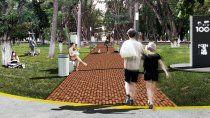 La maqueta de la plaza de Centenario que costará $62,3 millones.
