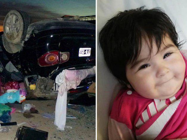 Milagro en Chubut: beba se salvó de un accidente y la encontraron sonriendo