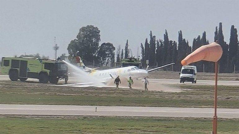 Se despistó un avión con diez pasajeros en Mendoza