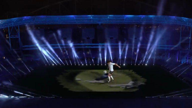 El espectacular homenaje de Conmebol a Maradona previo a Argentina-Chile