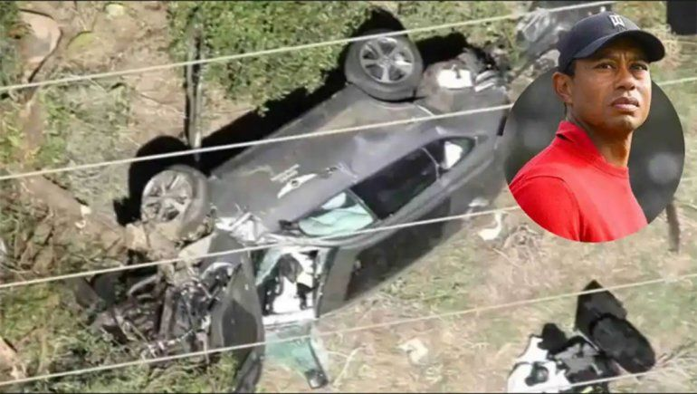 Accidente de Tiger Woods: conducía a casi el doble del límite de velocidad