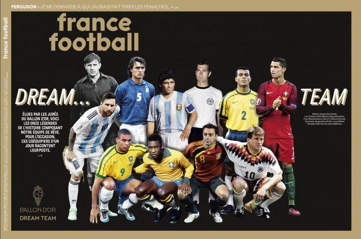 El equipo titular repleto de leyendas.