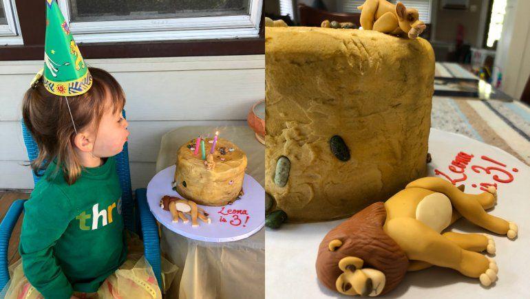 Twitter: niña pidió torta de la muerte de Mufasa para no compartirla.