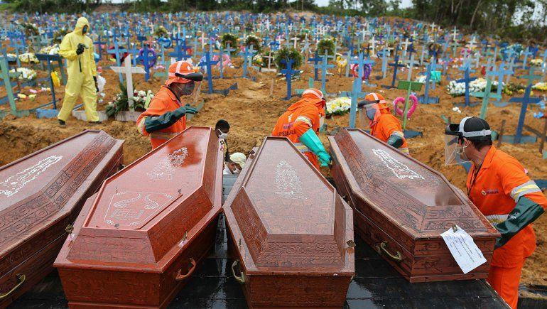 Covid en Brasil: hubo más muertes que nacimientos
