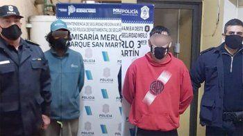 De izquierda a derecha. Sandro Zárate, principal sospechoso del femicidio y Marcelo Alejandro Zárate, acusado de ser el cómplice.jpg