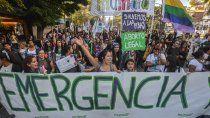 marcha, protestas y acampe por el 25n