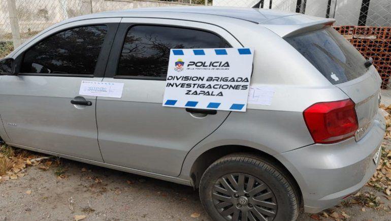 Personal de la Brigada de Zapala logró interceptar y secuestrar el auto que había sido robado en Córdoba.