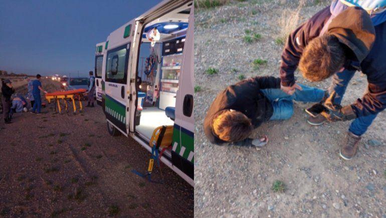 Rescató a un hombre que sufrió un ACV en plena ruta