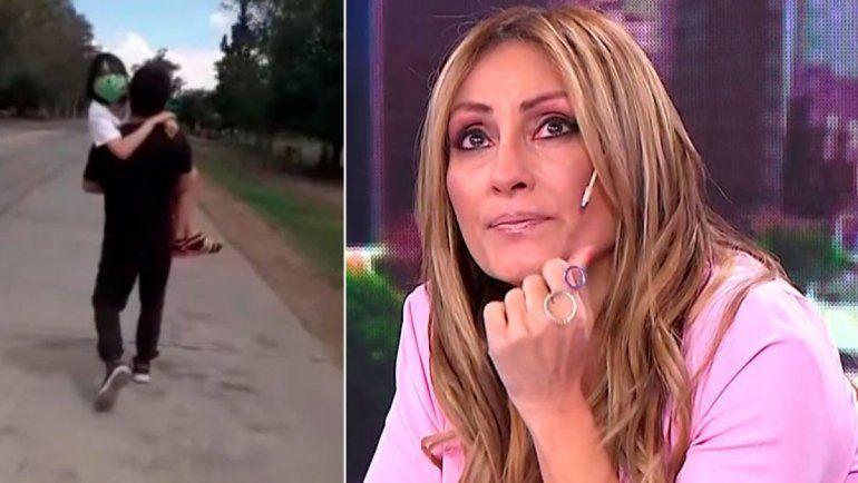 Marcela Tauro se quebró al aire al ver las imágenes de Abigail y su padre