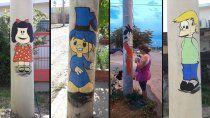 quiere convertir su barrio en un museo abierto de caricaturas