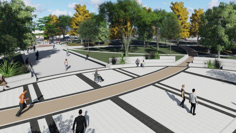 Así será la nueva plaza San Martín en el centro de Plottier
