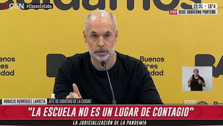 Larreta ordenó abrir las aulas y Alberto salió al cruce: Es un estrago jurídico