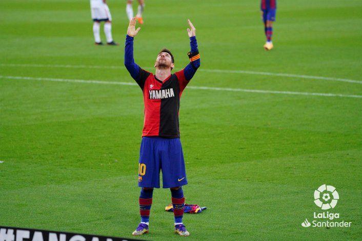 Messi le dedicó el gol a Maradona y emocionó a todo el mundo