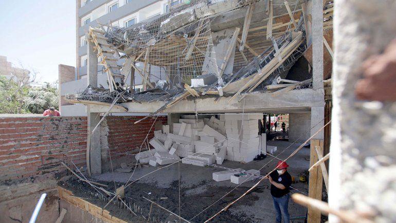 Derrumbe en una obra en construcción en la zona céntrica