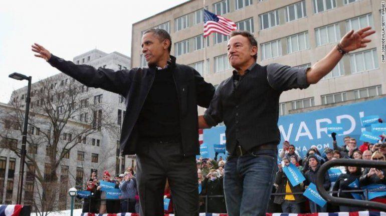 Barack Obama y Bruce Springsteen tendrán un podcast en Spotify