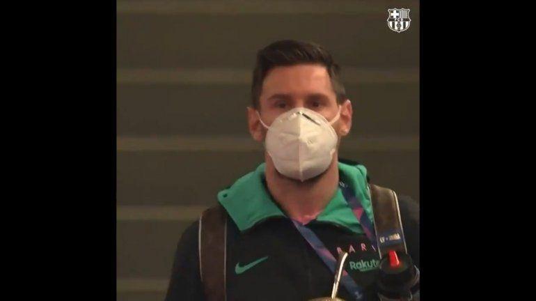 A puro mate, Messi y el Barsa ya están en el estadio: hora y TV de la revancha ante el PSG