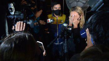 Llanto y bronca contra Claudia: Rocía Oliva, prohibida en el velorio de Maradona