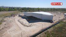 desde el drone: asi se ve la obra del futuro centro de convenciones