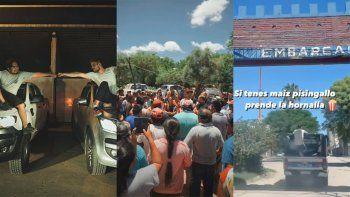 se pico: maratea fue a donar dos camionetas y termino resguardado por la policia