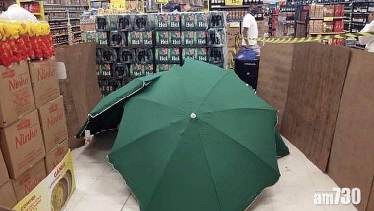 Un muerto entre las góndolas de un supermercado en Brasil