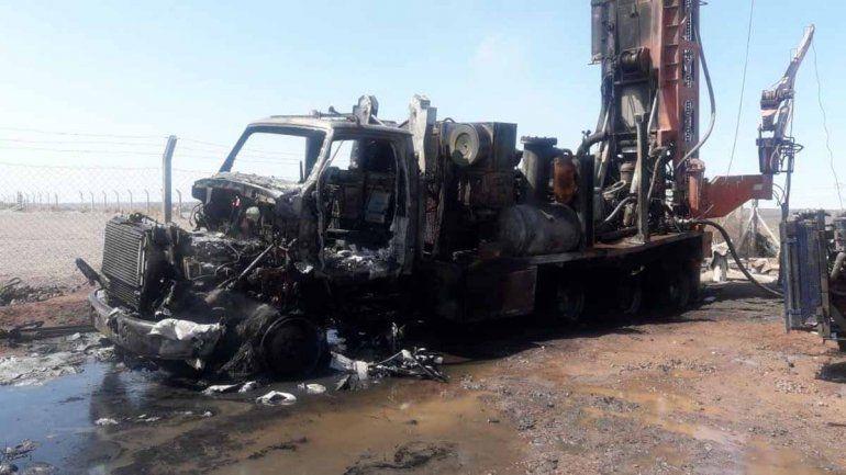 Susto en Añelo por la explosión de un camión en el Parque Industrial