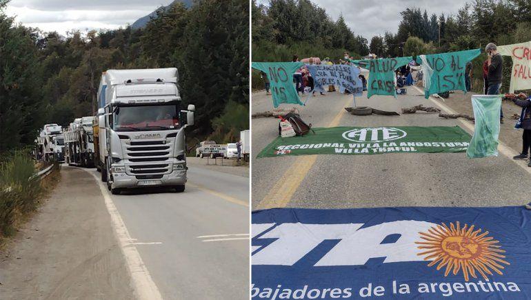 La Angostura: tensión en los cortes con los camioneros chilenos