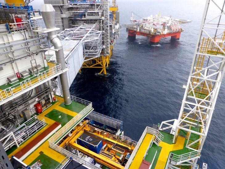 FOTO DE ARCHIVO. La plataforma petrolífera de Equinor en el campo petrolífero Johan Sverdrup