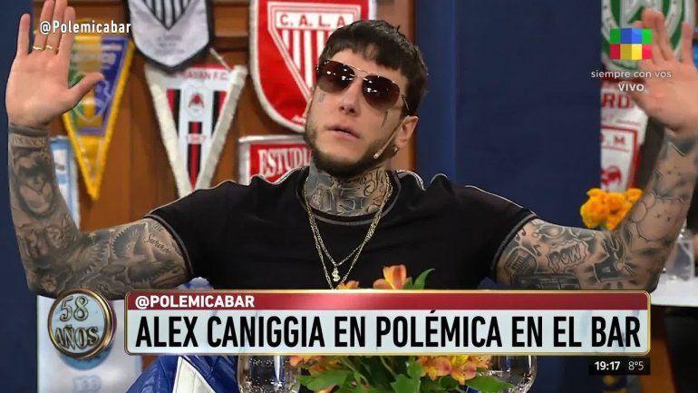 Despidieron a Alex Caniggia de Polémica en el bar