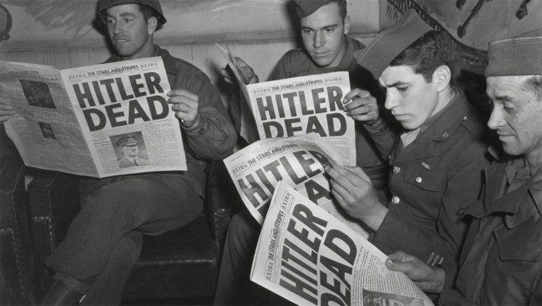 Los medios y la noticia de la muerte de Hitler.