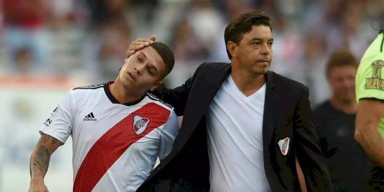 Gallardo con Juanfer.