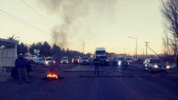 el chanar: municipales levantaron el corte sobre ruta 7