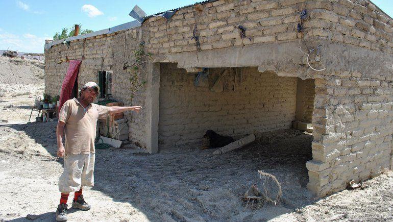 La casa del tío de Marisol sufrió daños en su estructura