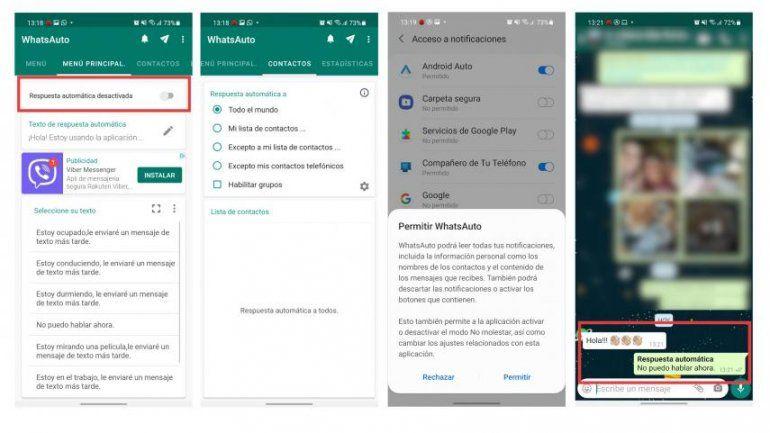 Así podés contestar mensajes de WhatsApp mientras conduces