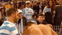 El llanto del niño y la emoción de todos por el gesto del gran capitán.