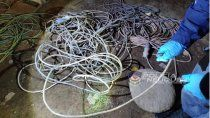 la policia secuestro 25 kilos de cable robado