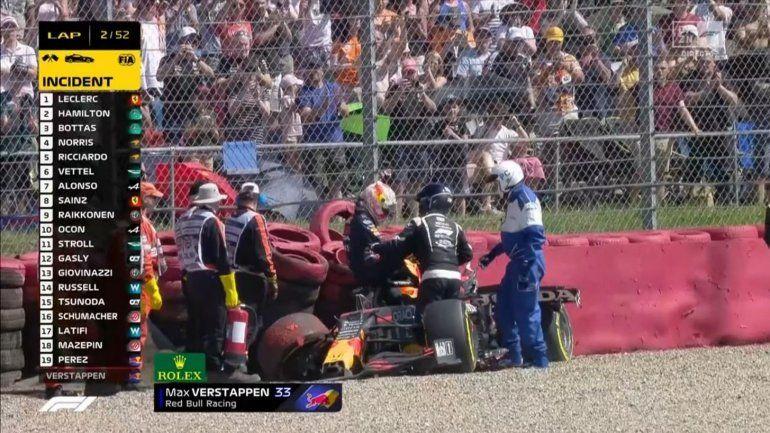 La bronca de Verstappen contra Hamilton: Ver los festejos desde el hospital es irrespetuoso