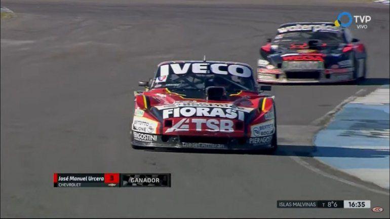 TC: De punta a punta, Urcera ganó en Rafaela y todavía sueña con el título