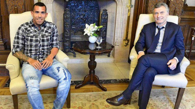 Macri le agradeció a Tevez por todas las alegrías