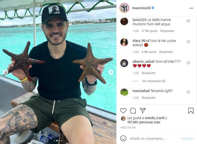 Instagram: Wanda Nara y Mauro Icardi repudiados por una fotografía de sus vacaciones