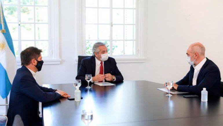 Larreta se reunió con Fernández y Kicillof la semana pasada | Foto: @alferdezprensa