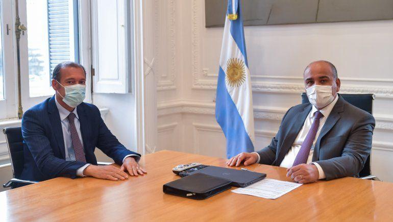 Omar Gutiérrez le ofreció su agenda en EE.UU. a Juan Manzur
